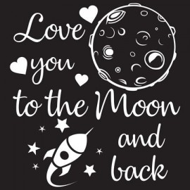 Love you to the moon Női póló