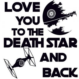 Love you to the death star Női póló