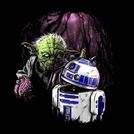 Yoda zombie Férfi póló