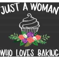Just a woman baking