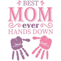 Best Mom Hands női póló