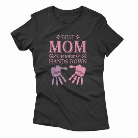 Best Mom Hands női póló