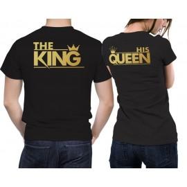 TheKingHisQueen2 Gold Páros Póló