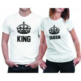 King-Queen Páros póló