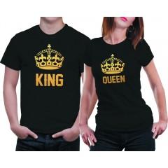 King-Queen Gold Páros póló