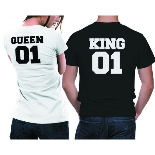 King01 Queen 01 páros póló