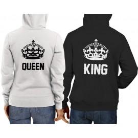 King-Queen Pulcsi fekete fehér