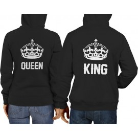 King-Queen Páros Pulcsi fekete