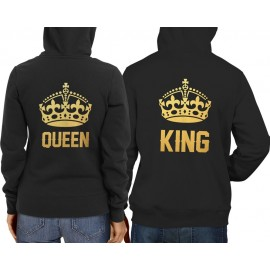 King-Queen Gold Pulcsi fekete