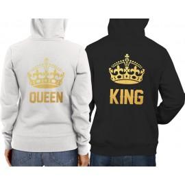 King-Queen Gold Pulcsi fekete fehér