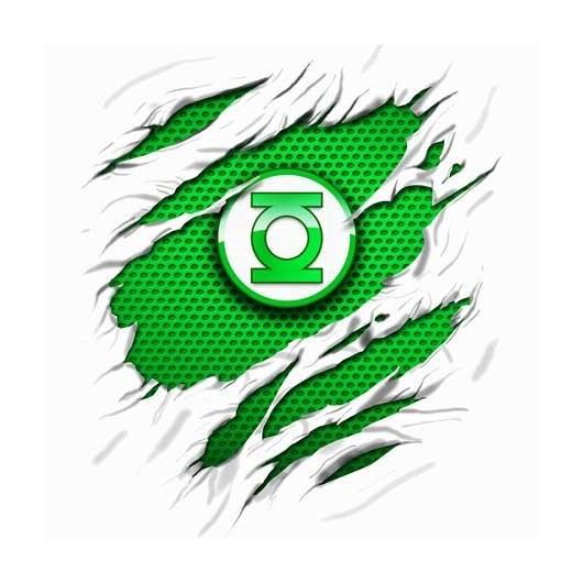 Green Lanthern Tépett mintával Férfi póló