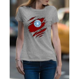 Iron Man Tépett  Női Póló