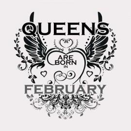 Queen are born Február Női póló