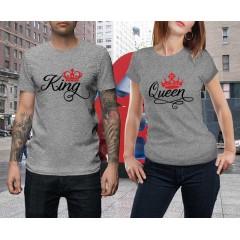 King Queen Print Páros póló