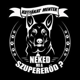 Kutyákat mentek Férfi póló