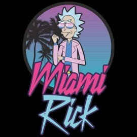 Rick & Morty Miami Rick Férfi Póló