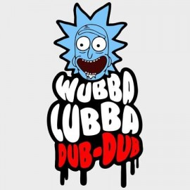 Rick & Morty WubbaLubba Férfi Póló