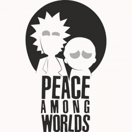 Rick & Morty Among Worlds Férfi Póló