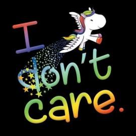 I don't care unikornis női póló