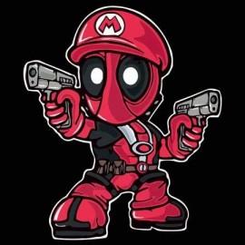 Mario Deadpool Férfi Póló