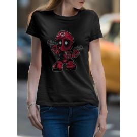 Mario Deadpool Női Póló