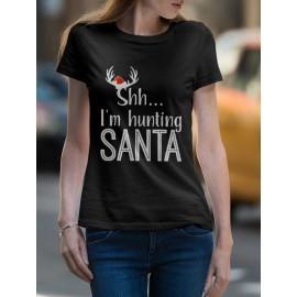 Hunting Santa Női póló