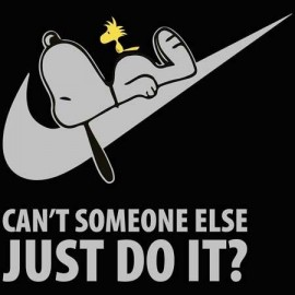 Snoopy just do it Női Póló
