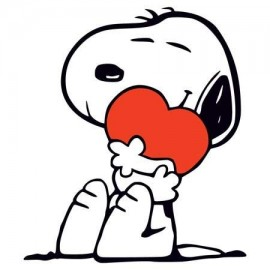 Snoopy with Hearth Női Póló