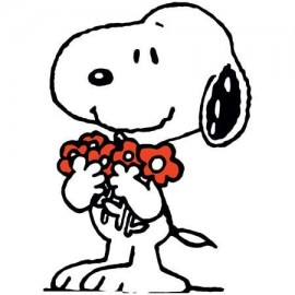Snoopy with Flowers Női Póló