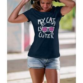 Cat is cuter Női Póló