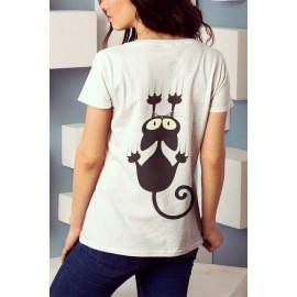 Kapszkodó cica Női Póló