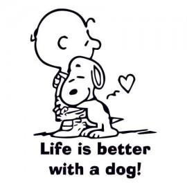 Life is better with a dog Női Póló